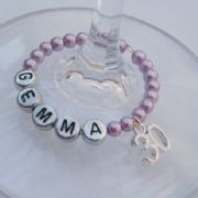 30th Birthday Personalised Wine Glass Charm - Full Bead Style